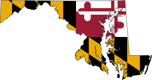 Maryland Flag as map