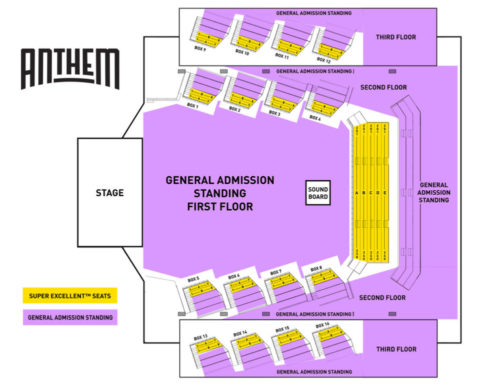 Anthem Seating Chart
